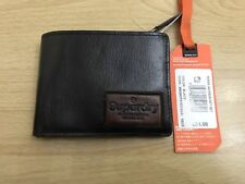 Superdry Super Jackson Leather Wallet - Black BNWT