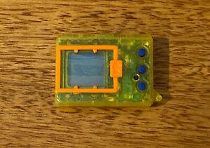 Digimon Digivice Tamagotchi Transparent Yellow 1997 Bandai - Working