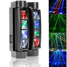 More details for spider moving head stage lighting beam dmx disco party dj light 80w rgbw 8led uk