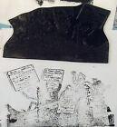 ANCIEN CLICHÉ D'IMPRIMERIE, TAMPON, CARICATURE SATIRIQUE BLUM & AURIOL