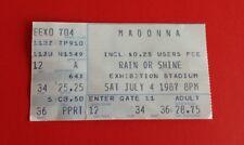 1987 Madonna Who's That Girl Tour Ticket Stub***Toronto, Exhibition Stadium***