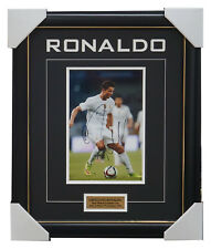 Cristiano Ronaldo Signed Real Madrid Football Club Photo Framed with Plaque +COA