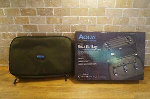 AQUA BLACK SERIES BUZZ BAR BAG RRP £28 CARP SET UP TACKLE  LUGGAGE POUCH