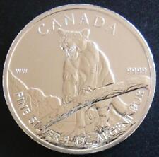 CANADÁ 1 moneda de 1 Onza de Plata (Silver) 2012 Wildlife S/C en  Encápsula