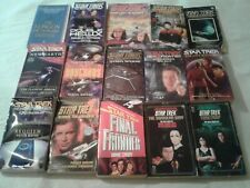 15 Star Trek Paperback Books  - See Pictures And Description