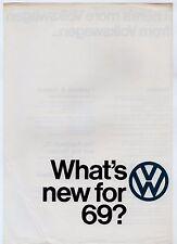 Volkswagen Specification Improvements 1968-69 UK Market Leaflet Brochure Beetle