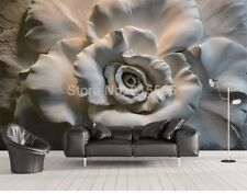 3D Sitting room the bedroom TV background Embossed flower ART wallpaper