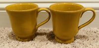 "Vietri CUCINA FRESCA 4 1/2"" Mugs (Saffron) Set of 2"