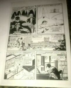 Batman Dark Knight Legends Secret Origin Gotham Bruce Production Art Acetate