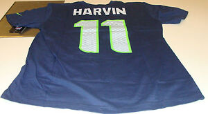 Seattle Seahawks Percy Harvin Name & Number L Shirt NFL Players Football