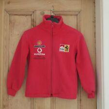 Ferarri Boys Red Bridgestone Michael Schumacher Racing Zip Fleece Age 5-6 Cotton
