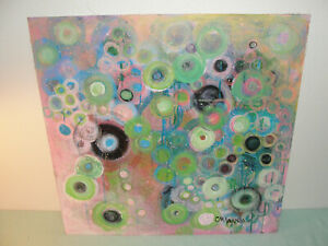 Original Abstract Mixed Media on Masonite FLIEGEN by Laurie Maves