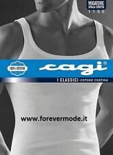 Canottiera uomo Cagi spalla stretta in puro e morbido cotone a costina art 1100