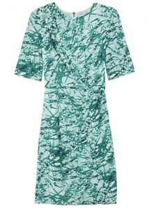 Whistles Mimosa Printed Bodycon Stretch Silk Dress Size UK 6 US 2