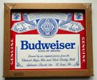"""Chipped Edge Border Budweiser Sign In Original Box Unused Second 20"""" x 16"""""""