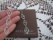 """Best Friend"""" Earrings W2779 Silpada Sterling Silver Cz """"Girl's"""