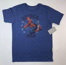 Disney Marvel Spider-Man Blue T Shirt Boys Large Size 12 New