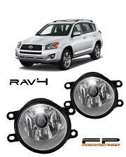 2006-2012 Toyota Rav4 Clear Lens Replacement Fog Light Housing Assembly Pair