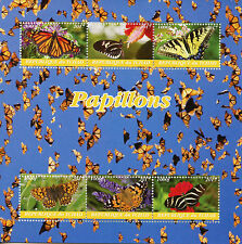 Chad 2017 MNH Butterflies 6v M/S Monarch Butterfly Insects Stamps
