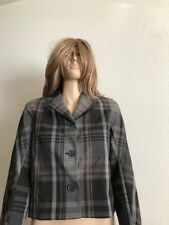 Womens NWT Tommy Hilfiger 3 Button Cropped Plaid Jacket...