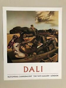 SALVADOR DALI, 'AUTUMNAL CANNIBALISM,1936' AUTHENTIC PRINT 1992 TATE GALLERY