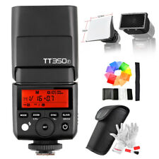 Godox Mini TT350F 2.4G HSS 1/8000s TTL GN36 Camera Flash For Fuji+ Softbox Kit