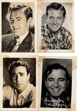 ANTIQUE PHOTOS POSTCARD CELEBRITY MOVIE STAR JOHN WAYNE PETER LAWFORD BOB WALKER