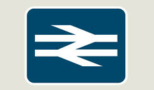 BR White Arrows - Train Depot Sticker/Decal 100 x 77mm
