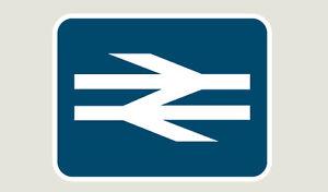 BR White Arrows - Train Depot Sticker/Decal 100 x 77mm