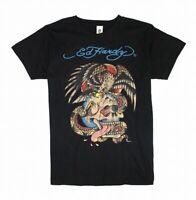 Ed Hardy Mens Shirt Black Size Medium M Eagle Snake Skull Graphic Tee $60 #016