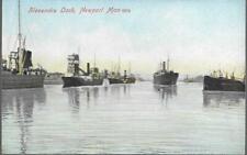 Newport, Wales - Alexandra Dock, ships - postcard by MJR c.1905-10