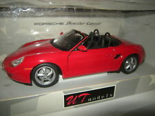 1:18 UT PORSCHE BOXSTER cabriolet rouge/red 1996 Type 986 Nº 180065830 neuf dans sa boîte