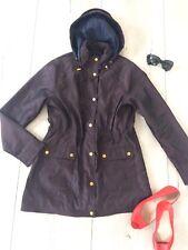 Papaya Uk10 M Jacket Trench Coat Mac Parka Metalic Burgundy Hooded New