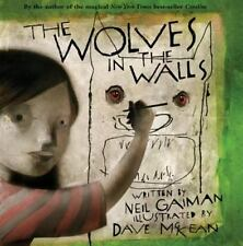 The Wolves in the Walls by Neil Gaiman 1st Ed-AUTHOR DRAWING inside cover