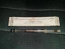 Vintage B-D Yale Luer-Lok 1cc Tuberculin Syringe Becton Dickinson 1YTL Glass