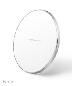 LED Wireless Fast Charger Pad Dock For iPhone 12 iPhone 11 X XR XS Pro - White