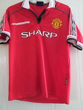 Manchester United 1998 Treble Home Football Shirt Medium /40242
