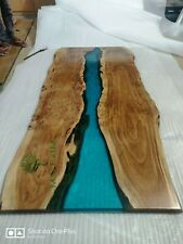 "Epoxy Resin Dining Table Top ""72x36inch"" in 35MM Thickness in Acacia Wood (Top)"