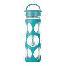 Lifefactory 16oz Glass Bottle with Classic Cap and Silicone Sleeve - Surf Ion
