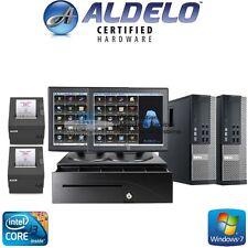 ALDELO 2 STATION POS SUSHI RESTAURANT BAR COMPLETE SYSTEM I3/4GB FREE SUPPORT