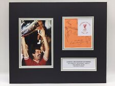 RARE Liverpool 1984 European Cup Final Multi Signed Photo Display + COA NEAL LEE