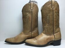 VTG MENS ACME COWBOY LIGHT BROWN BOOTS SIZE 12 D