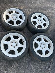 "Toyota Celica GT4 St205 set of 17"" RAYS Alloy wheels x4"