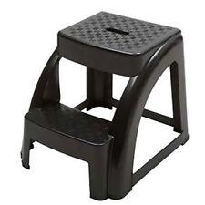 2-Step 300 Pound Capacity Durable Utility Step Stool - Black