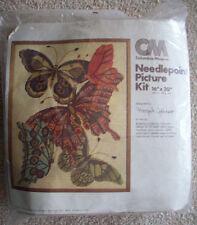 Butterfly Wool Needlepoint Unopen kit by Designer Margot Johnson