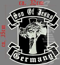 Son of Jesus Germany Rückenpatch Aufnäher breite ca.32 cm höhe ca. 35 cm