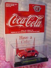 Coca-Cola 1953 VW BEETLE DELUXE EUROPEAN MODEL ∞red bug✨M2 Machines ✨RW03 18-21