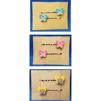 BUTTERFLY - Handmade Bobby PIn Hair clips - Set of 2 - You Choose Color SALE