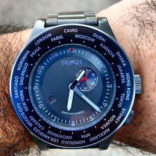 Nixon Men's A379000-00 Passport SS Analog Display Japanese Quartz Silver Watch
