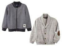 Boys' Sweat Jacket Elegant Navy Gray 12 24 m 2 3 4 5 6 Years 86 92 98104 110 116